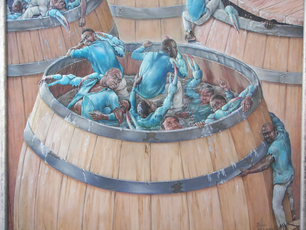 crabs in barrel